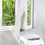 FGHB Universal-Fensterdichtung für tragbare Klimaanlage Einfach zu installierende mobile Klimaanlage Weiches Tuch Abdichtung Schallwand Fenster Türdichtung Fensterrahmenplatte