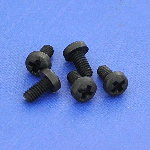 Electronics-Salon 10pcs M2,5 x 5 mm Vis Phillips pan-header en nylon noir.