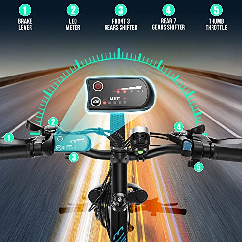 51DjqukDsRS。 SL500ANCHEER電動自転車電動マウンテンバイク