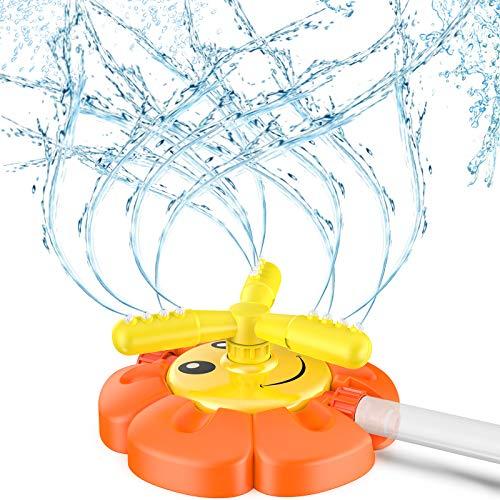 Kiztoys Water Play Sprinkler Toy for Kids, Sunflower Outdoor Sprinkler Toys...