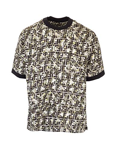 Fendi Fashion Mens FY1021ABLKF0KUK Multi kleuren T-shirt |