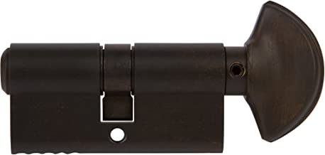 Rockwell 360 degree Solid Brass Euro profile Cylinder in Oil Rubbed Bronze Finish for 1-3/4