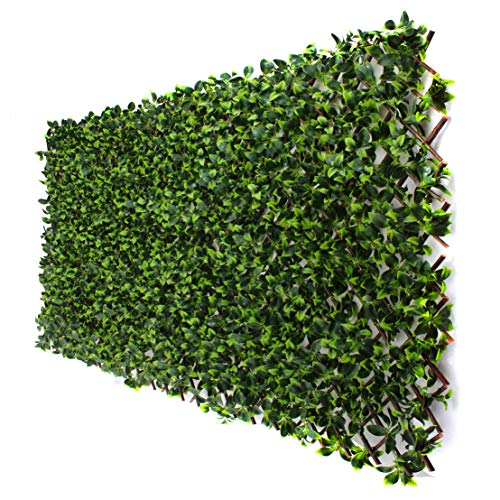 3rd Street Inn Gardenia Leaf Trellis 4-Pack - Bamboo Greenery Panel - Boxwood and Ivy Privacy Fence Substitute - DIY Flexible Fencing (Gardenia)