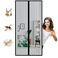 マグネット式網戸マグネット式れ 取付簡単に自動的に密閉蚊や虫電磁ドアり,適用最もするドア/ベランダ玄関/アパート ベランダ サッシドア 穴をあける必要がなく-Black A   200x240cm(78x94inch)