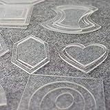 LAI 27 Set Kit Plantillas de Patchwork Reutilizables Artesanía de Costura Accesorios para Herramientas de Bricolaje Plantillas Acolchado Regla de acrílico Transparente, a