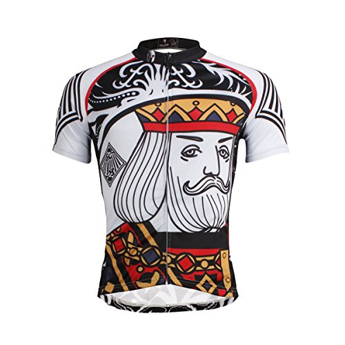 Hebike–Juego de maillot y culote de ciclismo para hombre, manga corta, diseño...