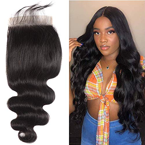 7x7 Lace Closure Only Pre Plucked With Baby Hair Can Bleach Knot For Women Silky Body Wave Brazilian Unprocessed Natural Black Some Day Delivery 16 inch