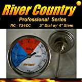 River Country 3' (RC-T34CC) Adjustable BBQ, Grill, Smoker Thermometer (50 to 550F)