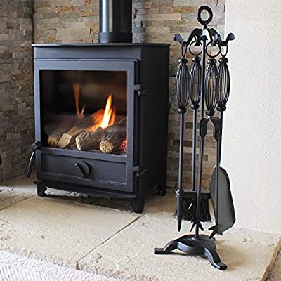 5 Pieces Log Burner Set Fireside Companion Fire Tool Kit Fireplace Accessories