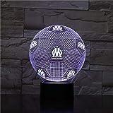 3D Optique Illusion Nuit Light Marseille Smart 7 Couleurs LED Touch Lampe De Table pour Enfants Anniversaire De Noël Saint Valentin Cadeau