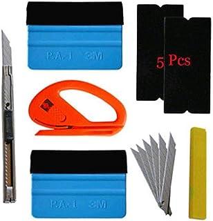 5Pcs Auto Folien Set Folierung Werkzeuge Set mit Micro Rakel Wasserabzieher Folienrakel Glasschaber Flächenspachtel für Autofolierung Car Wrapping