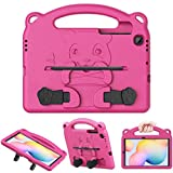 MoKo Case Compatible with Galaxy Tab S6 Lite 2020, Heavy Duty EVA Foam Kids-Friendly Bear Cover with Hand-Grip & Stand & Pen Holder Fit Samsung Galaxy Tab S6 Lite 10.4 2020 SM-P610/P615 - Magenta
