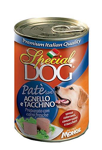 MONGE SPECIAL DOG PATE' 12 PEZZI DA 400 GR CARNE AGNELLO/TACCHINO CANI ADULTI