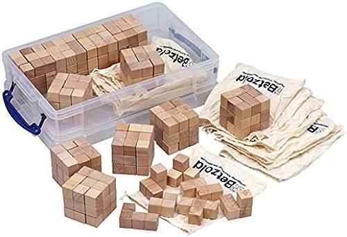 Unbekannt Soma-Würfel Gruppenset, 12 Stück, Bausatz und Lernspielzeug, Somawürfel, Holz, Knobelspiel, Logisches Denken Lernen, 1 Handreichung und 1 stabile Aufbewahrungsbox