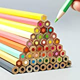 Lápices de colores de 36 a 72 colores, lápices de colores profesionales de colores, aceitosa, plomo, suministros de arte para estudiantes o niños (tamaño: tamaño libre), color 72 colores