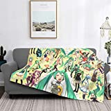 TezukaOsamu Hatsune Miku Flannel Blanket,Throw Soft Warm Fluffy Plush,Lightweight Microfiber for Bed Couch Chair Living Room 80 x 60 inches