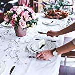 Partycards Marque Place pour Mariage, Baptême, Anniversaire, Noel | Porte Nom de Table en Papier - 50 Cartes Porte Prénom, A7 (Modèle :Vagues,Or Noir) #2