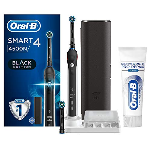 Oral-B Smart 4 4500 CrossAction Spazzolino Elettrico e Dentifricio Gengive e Smalto Pro-Repair...