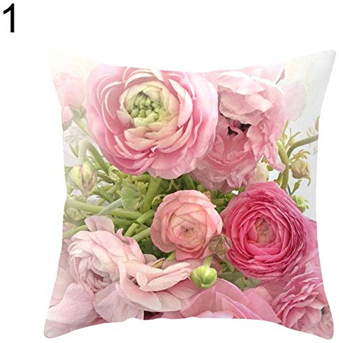 Preisvergleich Produktbild JoyRolly Country Rose Square Throw Pillow Protector Fall Kissenbezug Bettwäsche Artikel 1