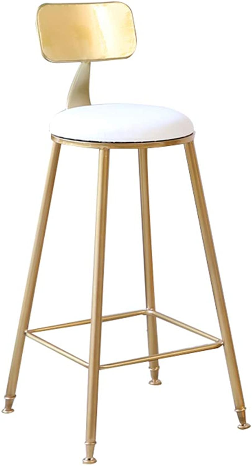Furniture Stools Bar Stools Upholstered Dining Chairs for Kitchen Comfort backrest Soft Cushion Curved seat Loading 150KG