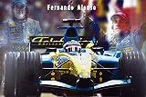 1art1 Formel 1 - Fernando Alonso, Racing Car Poster 91 x 61