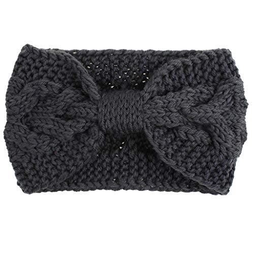 Watopi Damen Warmhalten Strick Stirnband Handgemachtes Sport Haarband