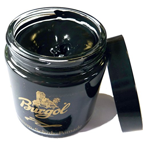 Burgol - Pomade - Schuhcreme - Versorgt Leder mit Nährstoffen. Mischemulsionscreme. In verschiedenen Farben erhältlich.