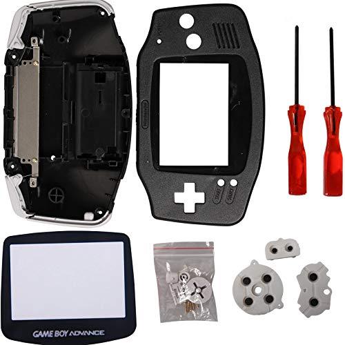 Timorn Parti Completa Sostituzione Housing Shell Pack per Game Boy Advance (Nero)