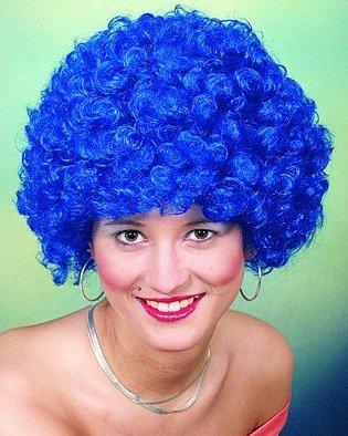 Perücke: Wuschel-Haar für einen fülligen Bubikopf mit kleinen Locken, Farbe:lila by or
