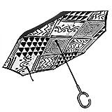 Ethnische Pop-Muster Regenschirm, Anti-UV wasserdicht Winddicht für Auto Regen im Freien