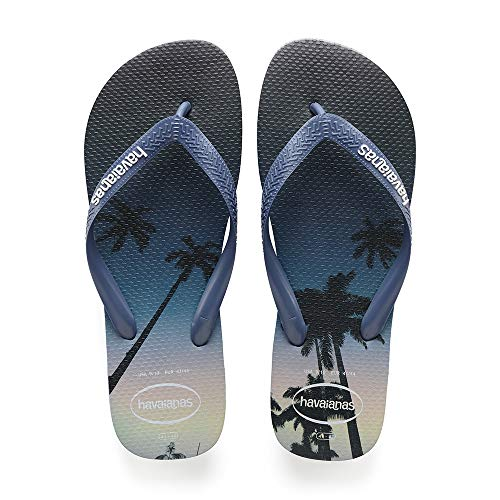Havaianas Hype, Chanclas Hombre, Multicolor Navy Blue/Blue