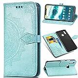 Qiaogle Coque pour Motorola Moto One Power / P30 Note - PU Housse Rabat Mandala Wallet Coque pour...