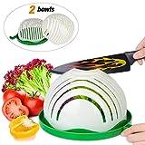 Salad Cutter Bowl,ESEOE Upgraded Vegetable Cutter Bowl for Salad in 60 Seconds,Best Vegetable Chopper Salad Maker(8 Inches)