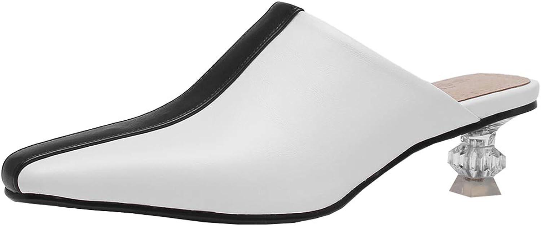 Artfaerie Womens Low Kitten Heel Clogs Mules Outdoors Slippers Slingback Sandals Comfortable Pumps shoes