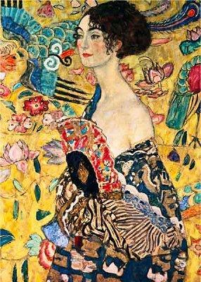 Unbekannt Puzzle 1000 Teile - Gustav Klimt : Frau mit Fächer