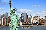 MTAMMD Puzzles Casas De Estatua De La Libertad Ciudad De Nueva York 500 1000 Piezas Rompecabezas De Paisaje De Madera para Adultos para Niños Juguetes Educativos Regalos-1000Pieces