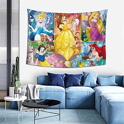 Tapiz de princesa de Disney, diseño original, para colgar en la pared, para dormitorio, sala de estar, dormitorio
