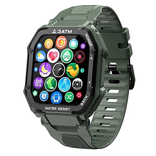 """EPILUM Smartwatch Hombre Mujer, Reloj Inteligente Impermeable, con GPS Podómetro, Presión Arterial, Calorías, SpO2, Pulsómetro, 20 Modos Deportivos Reloj Deportivo al Aire Libre,1.69"""" Pantalla táctil"""