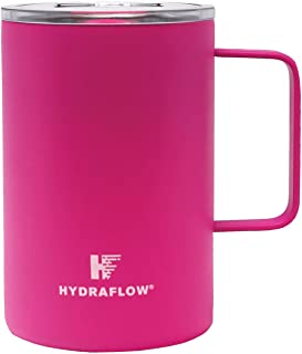 Powder Neon Pink - Parker - 17oz - Triple Wall Vacuum Insulated Mug with Slide Top Lid