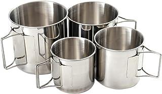 iplusmile スタッキングマグカップ コーヒーカップ ステンレスマグカップ コンパクト 断熱 ピクニックカップ 飲酒カップ キャンプ用 アウトドア 旅行 4Pcs