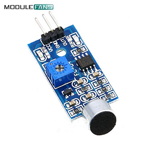 2PCS Mikrofon-Sensor High Sensitivität Sound Detecte Voice Switch Detection Modul für Arduino 3 Pin 3.3 V-5V Digital Ouput