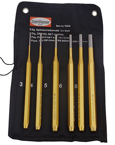 Splintentreiber-Satz 3-10mm 6-tlg. Durchtreiber 200mm lang Splintreiber Dorn