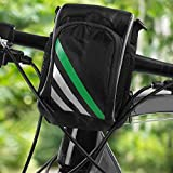 Dilwe Fahrrad Fronttasche, Qualität Nylon Multifunktions Fahrrad Front Lenkertasche mit Schultergurt für Klapprad Mountainbike Rennrad - 5