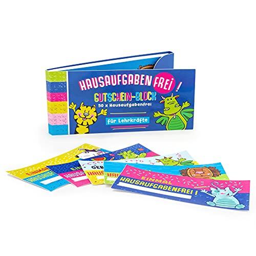 Trendhaus 601469 system nagród dla dzieci |100 x bony upominkowe na zadania domowe | karteczki dla uczniów, kolorowe