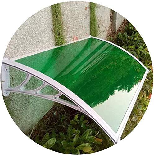 WSND FZWAI Cubierta Exterior Frente pabellón de la Puerta del Porche Ventana de la Puerta de jardín con Dosel Patio Cubierta Refugio UV de Agua de Lluvia Resist (Color : Green, Size : 60cmx80cm)