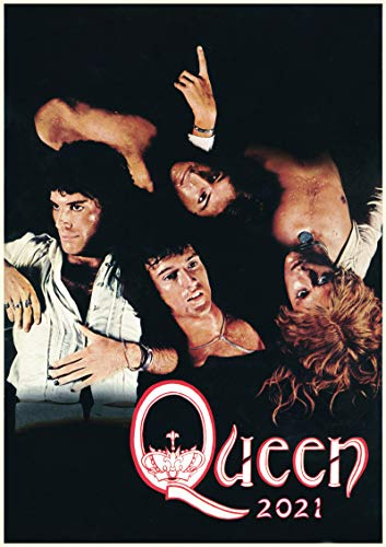 Wall Calendar 2021 [12 pages 8'x11'] Queen Rock Legend Vintage Musical Photos Posters