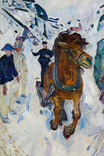 Galloping Horse, Edvard Munch. Ruled journal: 160 Lined / ruled pages, 6x9 inch (15.24 x 22.86 cm) Laminated. (Notebook, composition book)