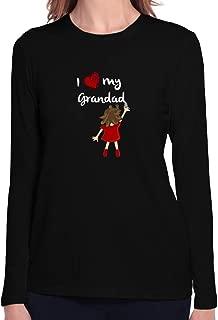 I Love My Grandad Wall Writing Women Long Sleeve T-Shirt