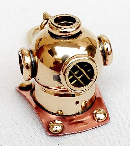 Nautischer Messing-Tauchhelm Schlüsselanhänger Vintage Maritim Taucherhelm Schlüsselanhänger