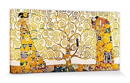 1art1 Gustav Klimt Poster Reproduction sur Toile, Tendue sur Châssis - La Frise De Stoclet, 1905-1911 (120 x 60 cm)